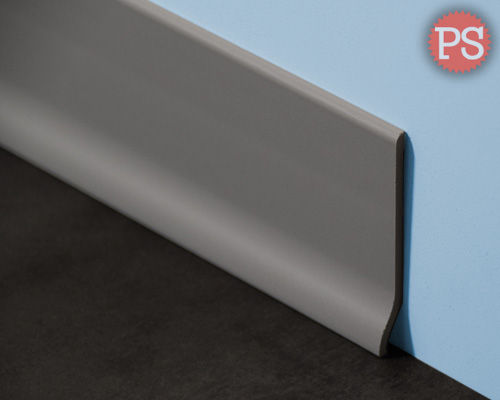 g nstige schmale graue kunststoff pvc sockelleisten kaufen. Black Bedroom Furniture Sets. Home Design Ideas